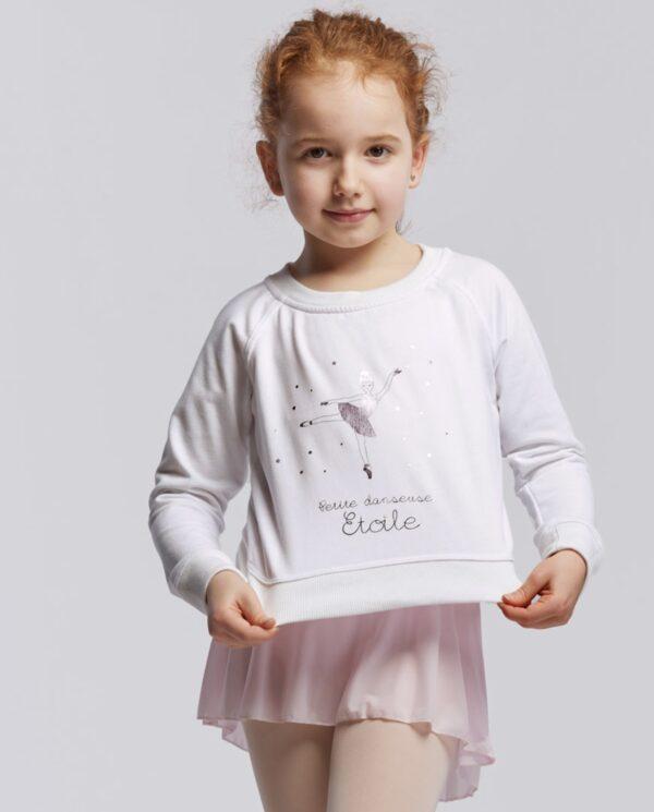 """TempsDanse Tanz Sweatshirt """"Talia jr"""" white"""